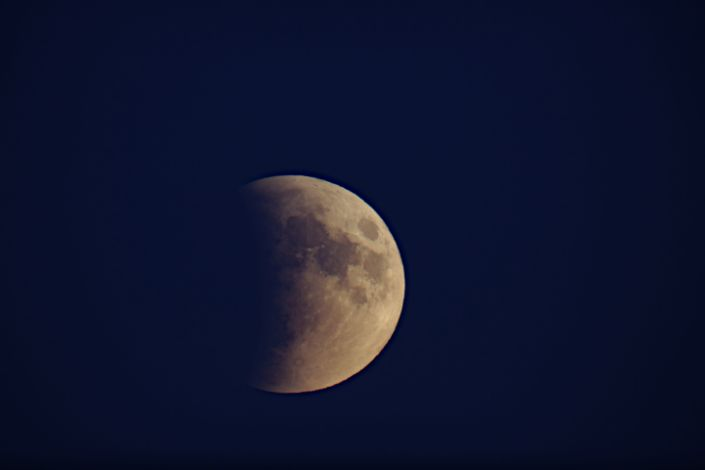 John Thomas in Great Falls, Montana captured this photo of the lunar eclipse of September 27, 2015.
