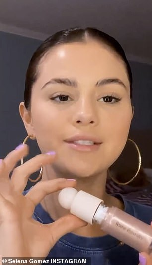 Beauty with a purpose: Prior to launching Rare Beauty in September, Gomez rushed to the holistic brand built on natural beauty and the message behind it;  Selena was photographed in December