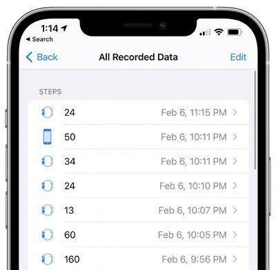 Apple Health-app-stappen