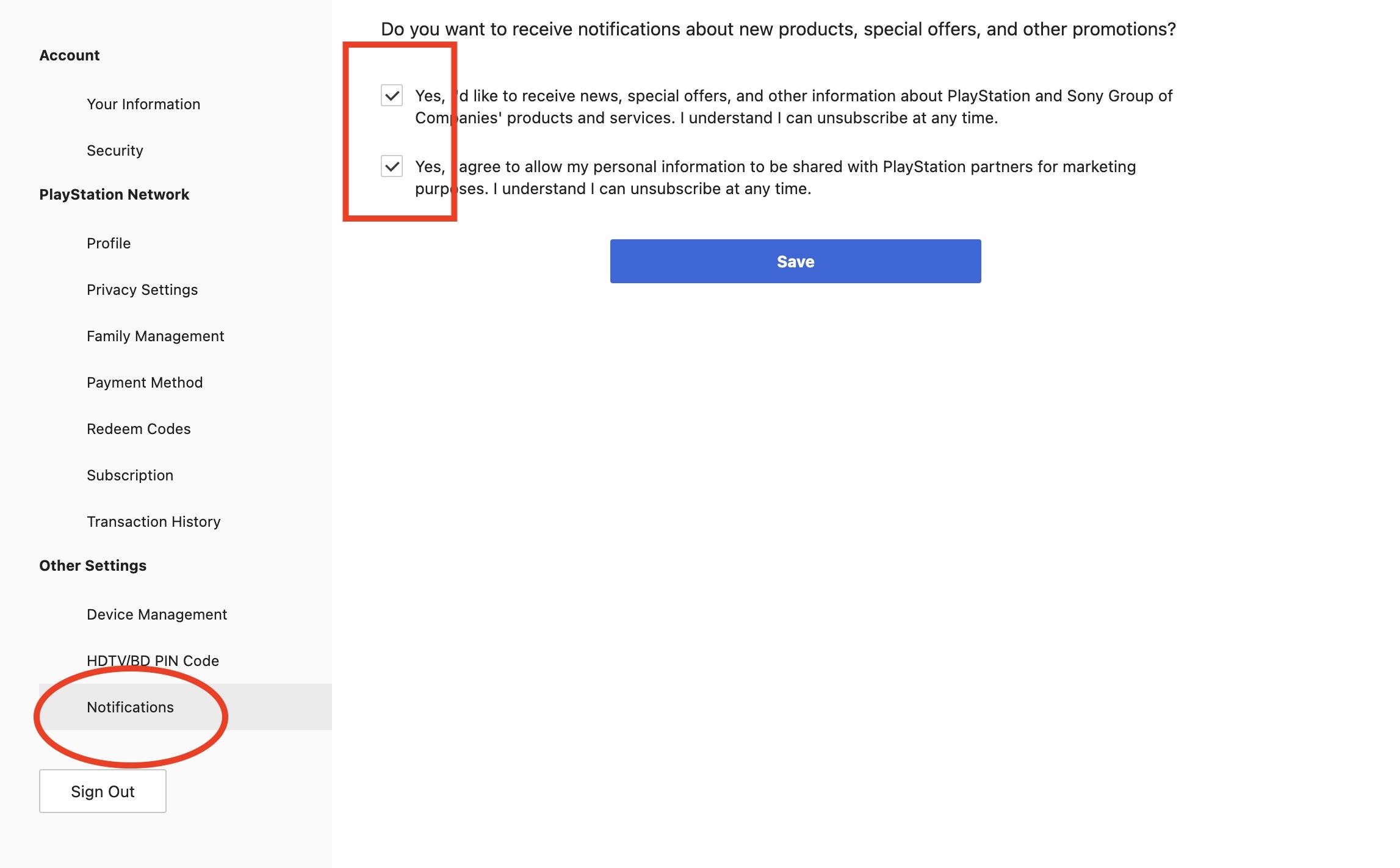 Sony Direct PS5-herstel