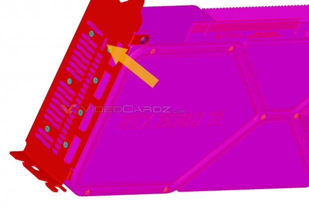 NVIDIA GeForce RTX 3080 Ti-lek: PCIe-voedingsconnector aan uiteinde van kaart 09 |  TweakTown.com