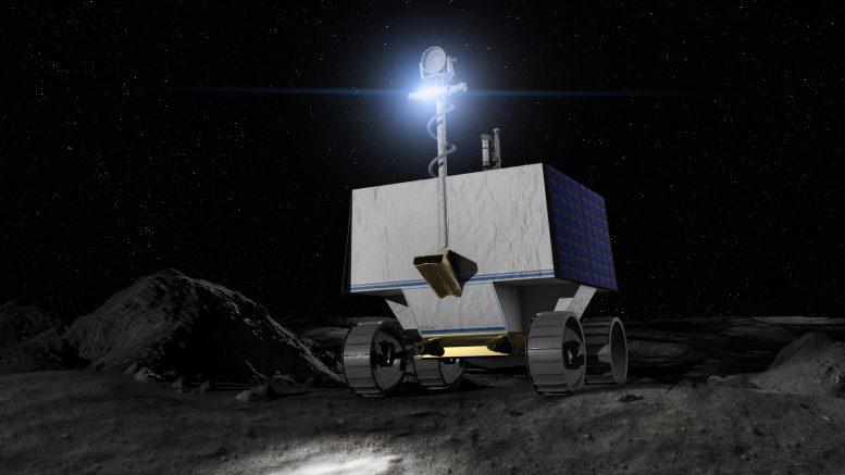 NASA Fiber op de maan